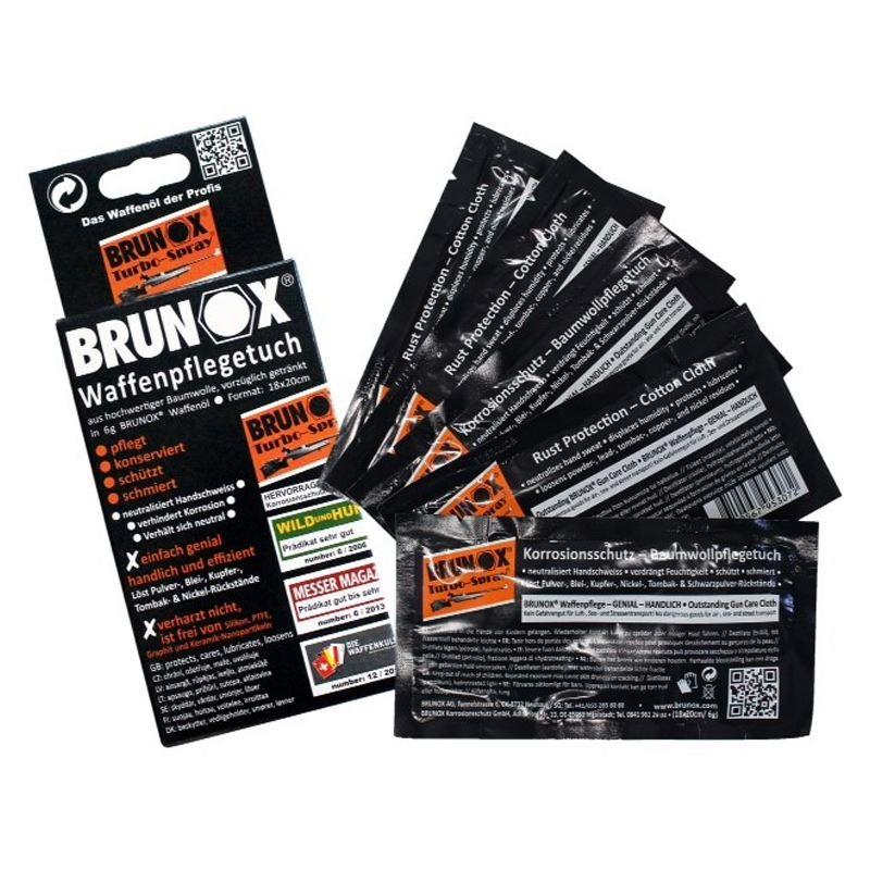 Lingettes d huile pour arme brunox turbo spray
