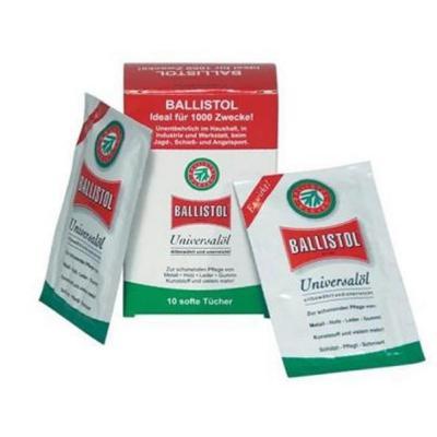 10 X Lingette d'huile de protection Ballistol