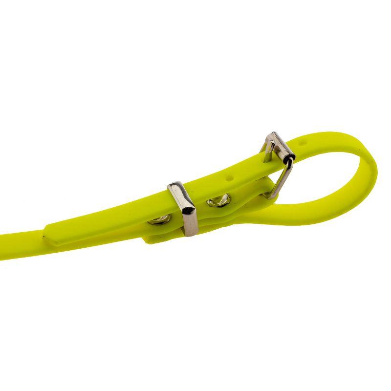 Longe pour chien 10m en biothane country orange fluo jaune2