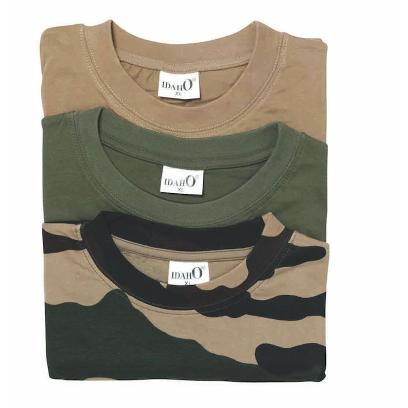 Lot de 3 tee shirt percussion idaho kaki beige camouflage