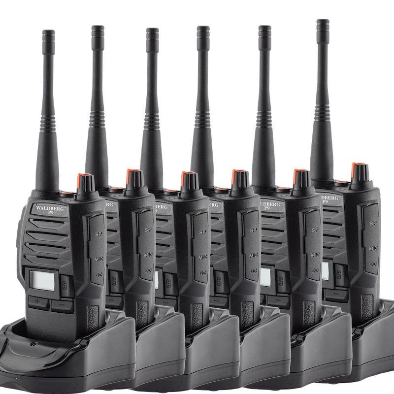 Lot de 6 X Talkie-Walkie Waldberg P9 PRO