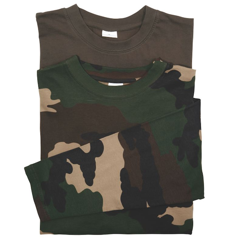 Lot tee shirt manche longue percussion kaki camo ce