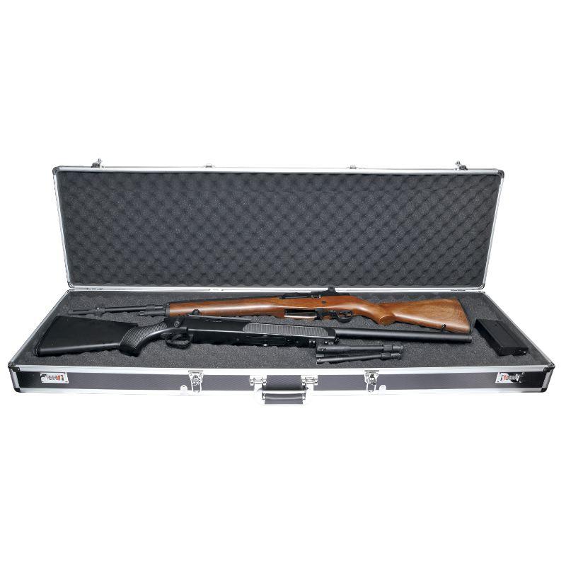 Mallette alu de arme e paule fusil carabine 131 x 38 x 13 cm