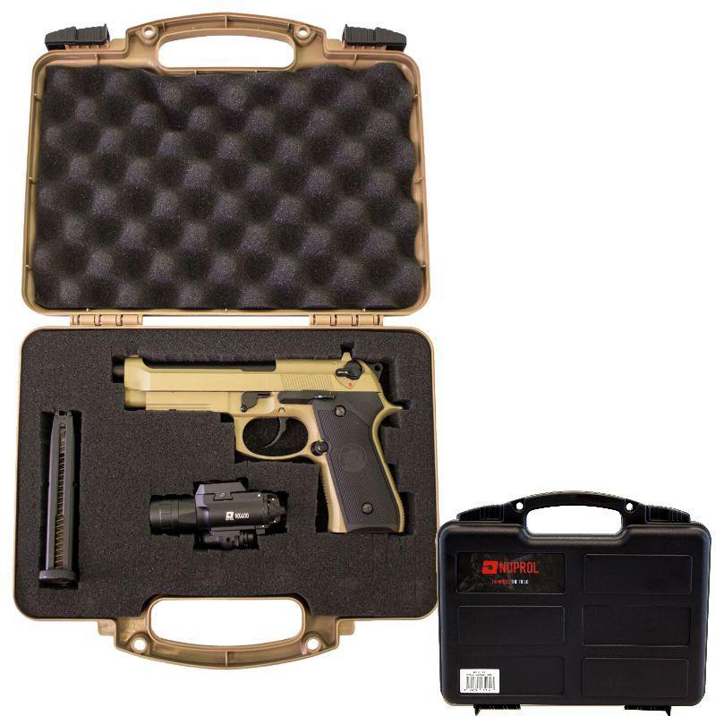 Mallette arme de poing noire 31x25x8 cm mousse pre de coupe e