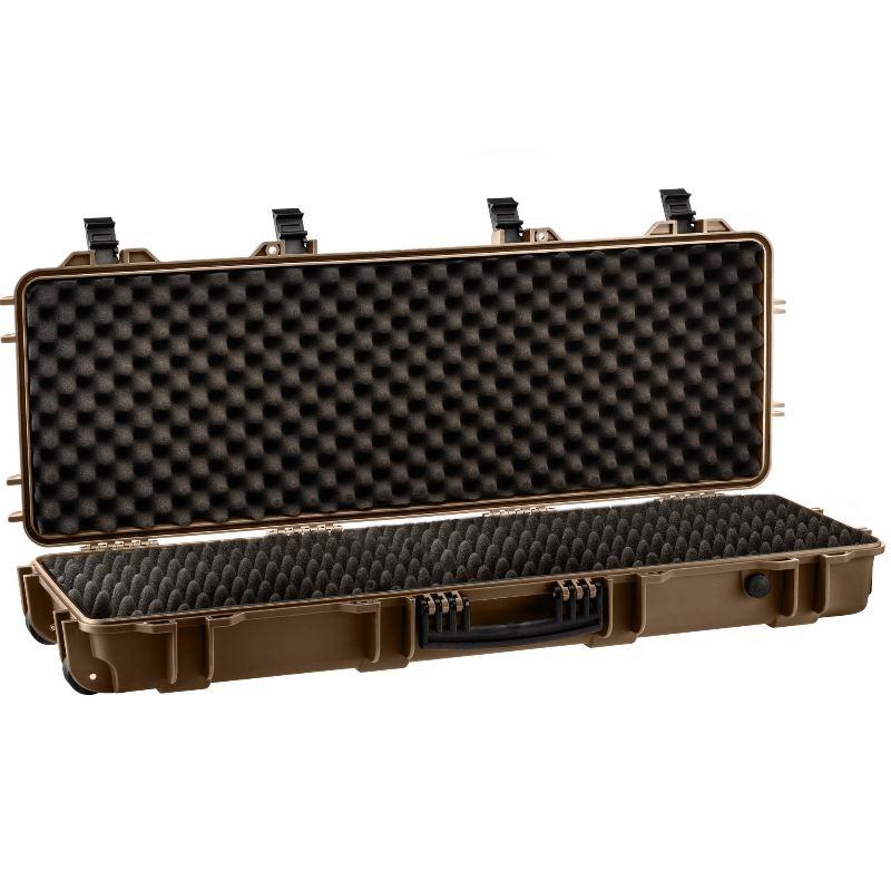 Mallette arme waterproof 103x33x15 avec mousse tan beige