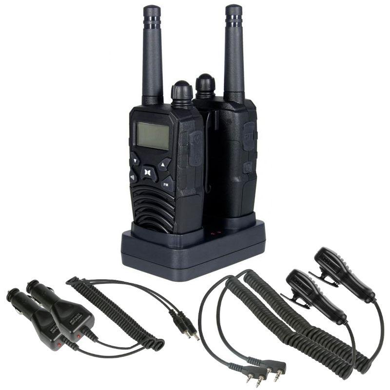 Mallette avec 2 talkies walkies haut de gamme porte de 10 km