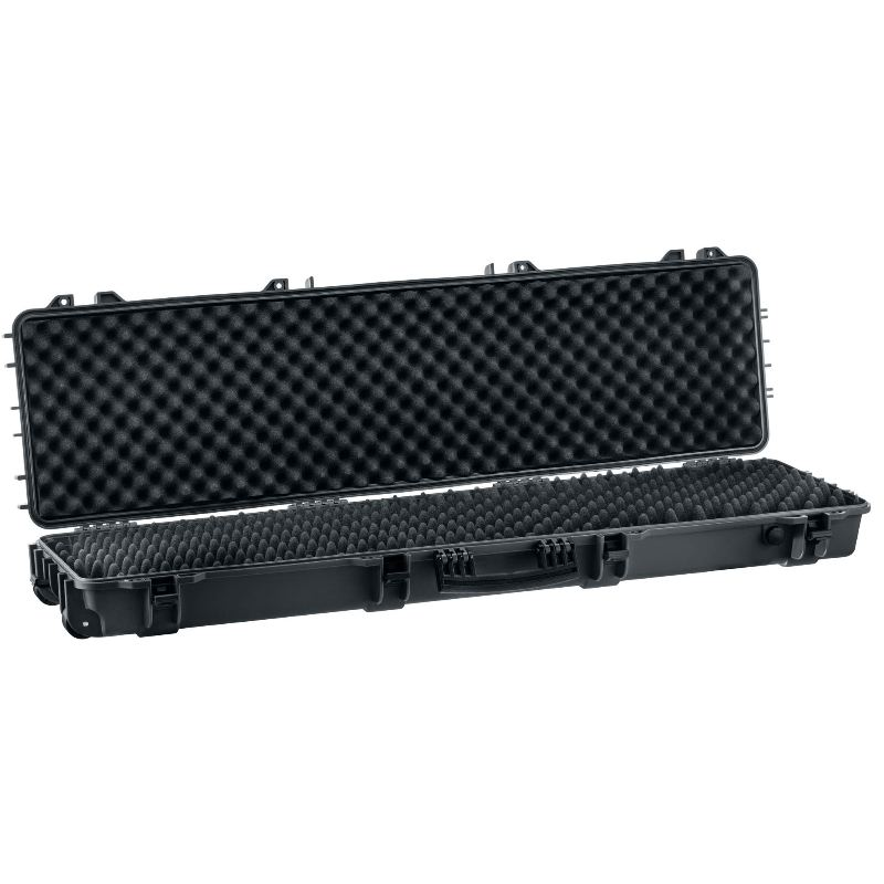 Mallette grise waterproof pour arme 130 x 32 x 12 5 cm