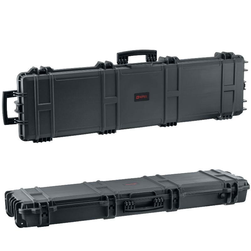 Mallette grise waterproof pour arme 130 x 32 x 12 5 cm1