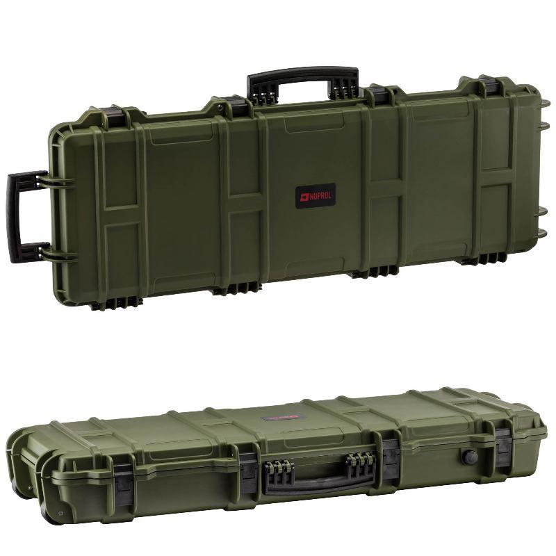 Mallette kaki waterproof arme 103x33x15 mousse pre de coupe e1