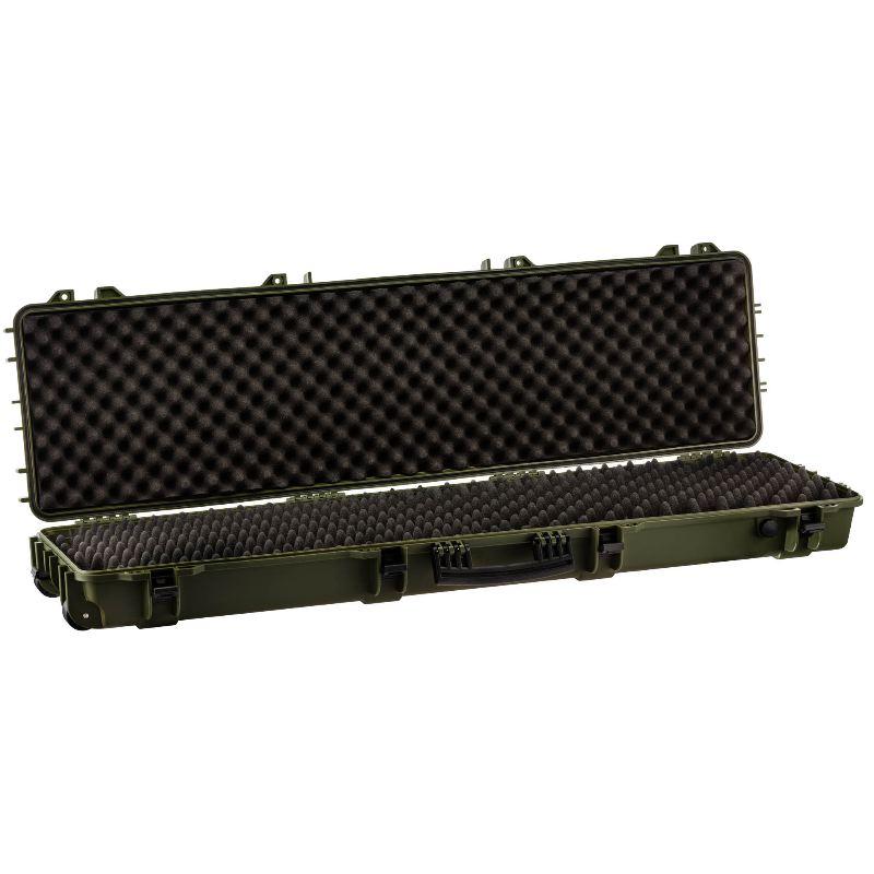 Mallette kaki waterproof pour arme 130 x 32 x 12 5 cm