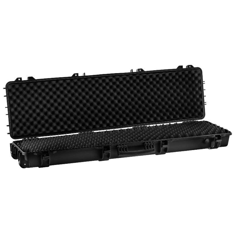 Mallette noire waterproof pour arme 130 x 32 x 12 5 cm