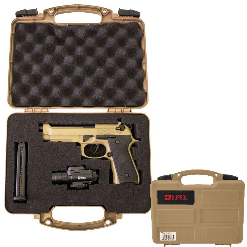 Mallette pour arme de poing 31x25x8 cm mousse predecoupee
