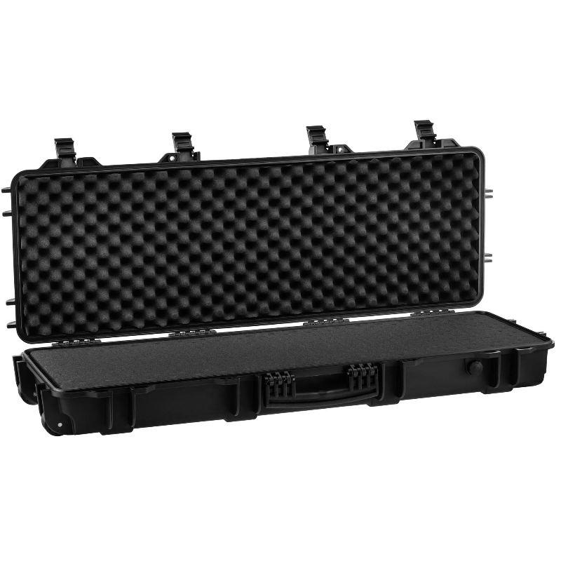 Mallette waterproof pour arme 103x33x15 mousse pre de coupe e