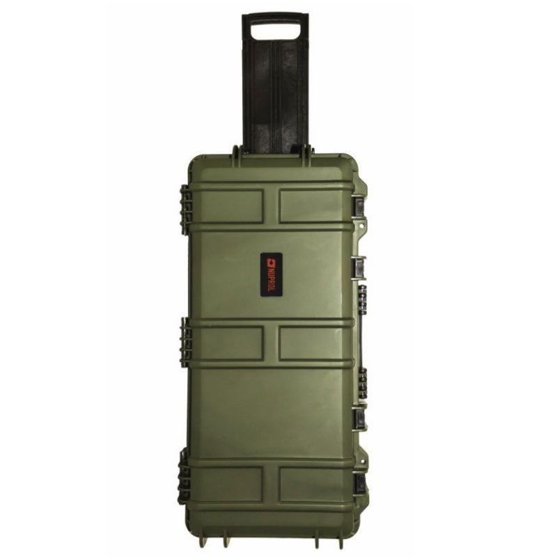 Mallette waterproof pour arme 75 x 33 x 13 cm kaki roullette