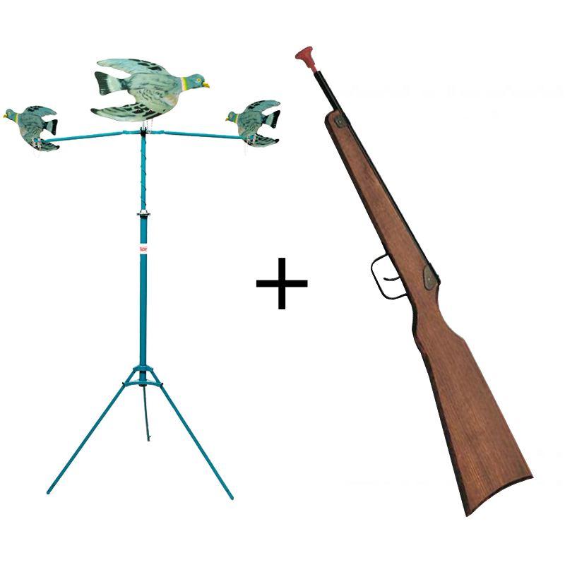 Mane ge a pigeons avec carabine a flechette ventouse speedy