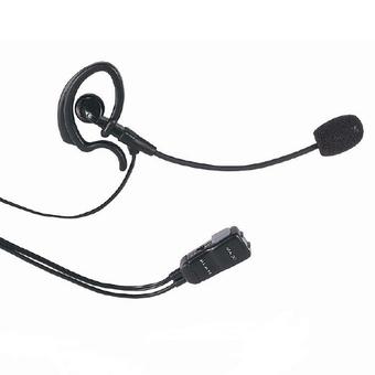 Micro casque avec contact de porte pour talkie walkie midland