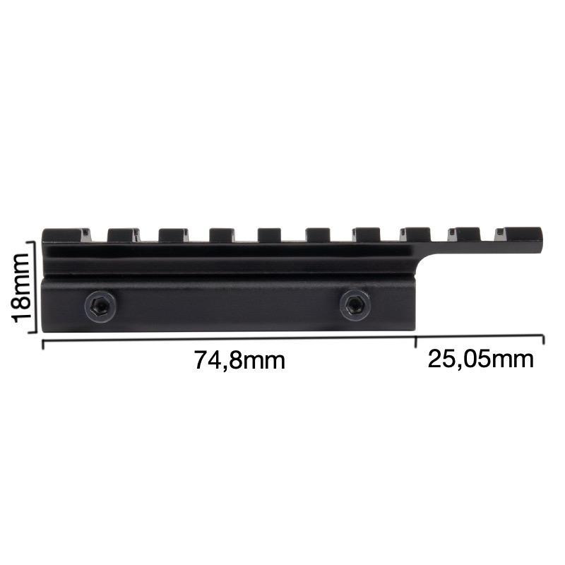 Montage 21mm sur 11mm montez un collier picatinny sur 11mm dimensions