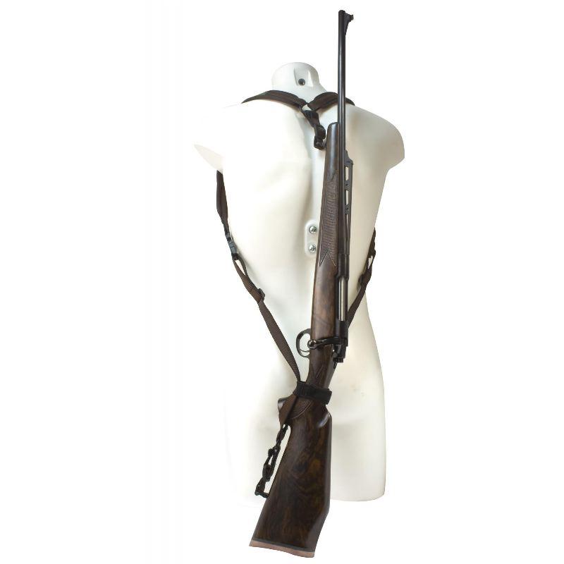 Niggeloh bretelle carabine de dos en neoprene chasse montage