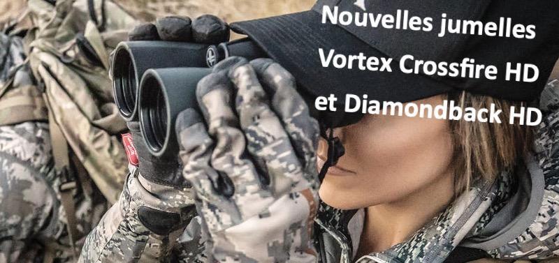 Nouvelles jumelles vortex crossfire hd et diamondback hd