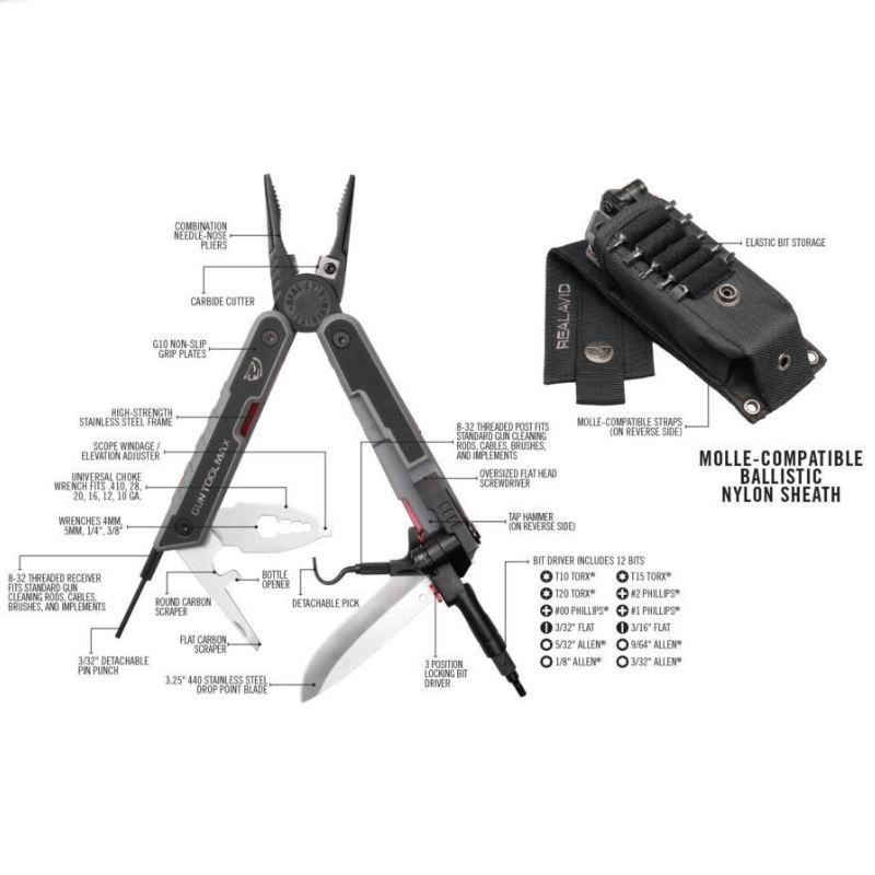 Outil multi fonction pour les armes gun tool max real avid1