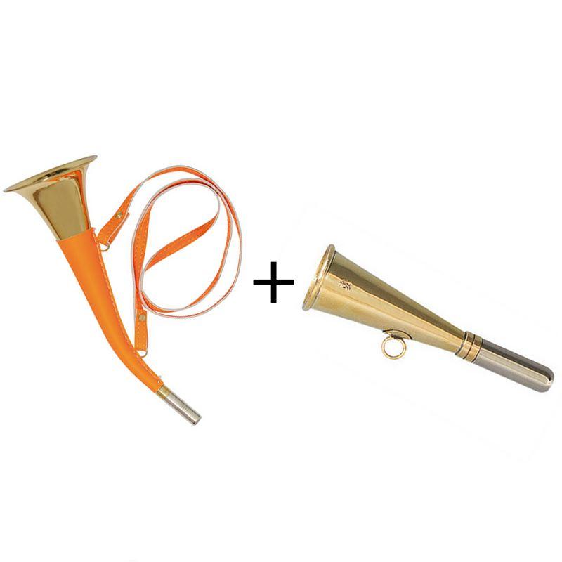 Pack 2 trompes verney carron pib orange 12 cm 31 cm