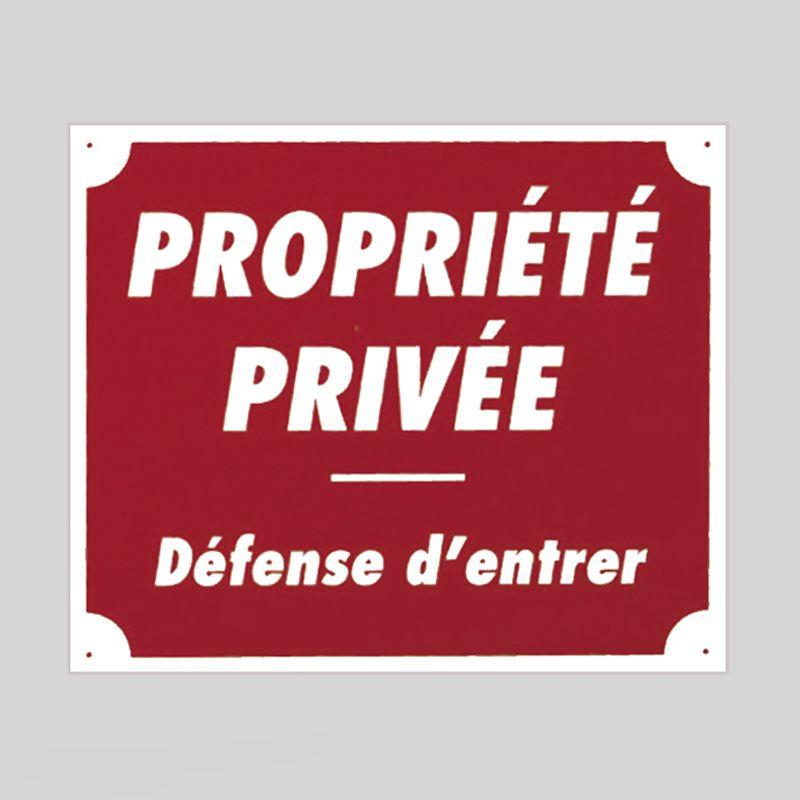 Panneau pancarte akilux propriete privee defense d entrer
