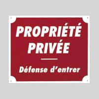 Plaque de signalisation PROPRIETE PRIVEE