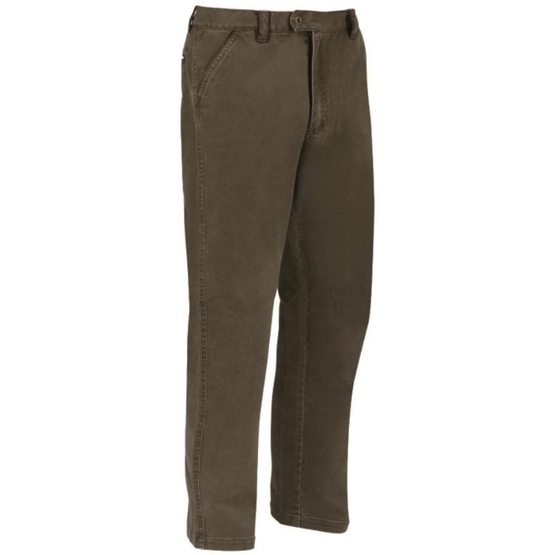 Pantalon chasse extensible marron club interchasse leopold