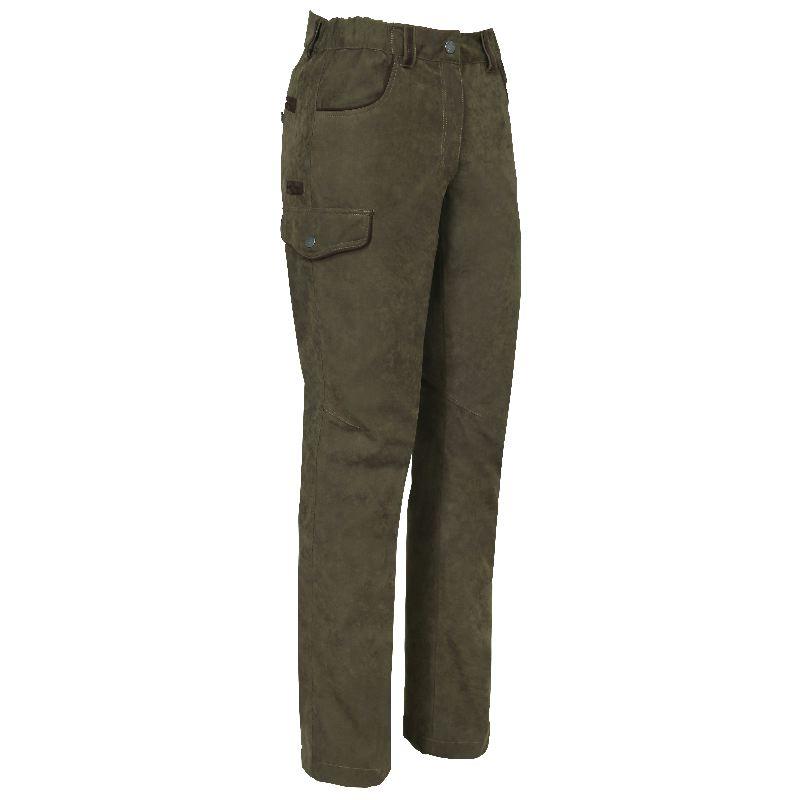 Pantalon de chasse coupe femme verney carron perdrix kaki