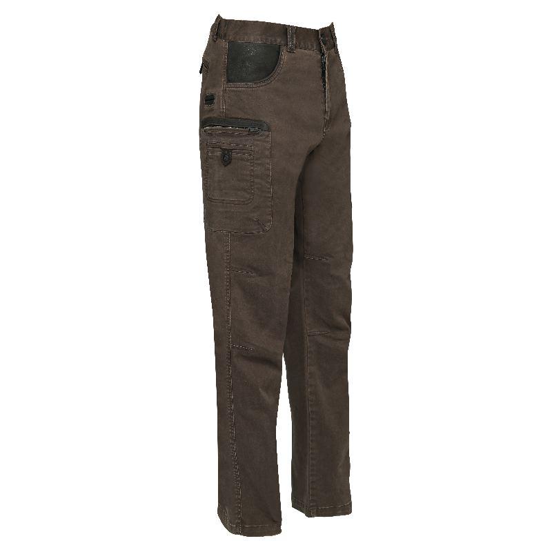 Pantalon de chasse verney carron foxstretch cuir marron