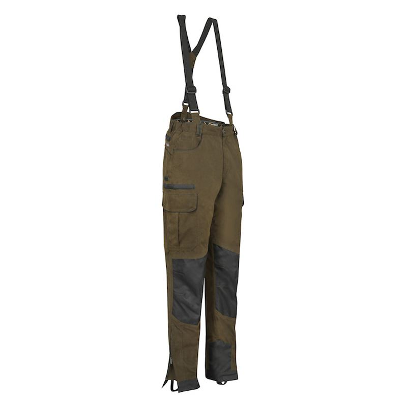 Pantalon de chasse verney carron ibex kaki et noir resistant