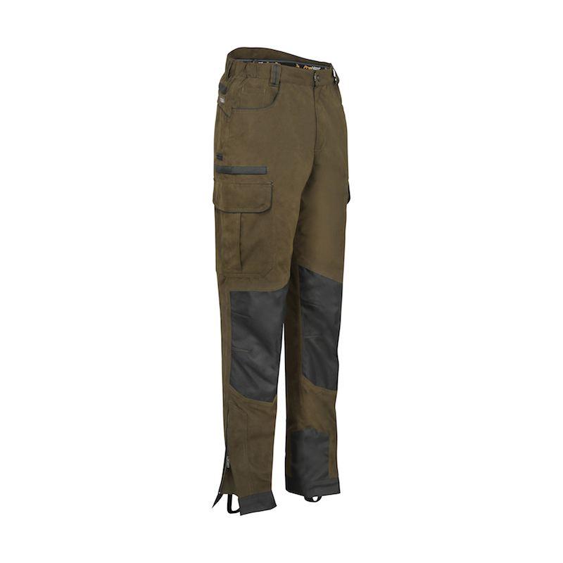 Pantalon de chasse verney carron ibex kaki et noir resistant1