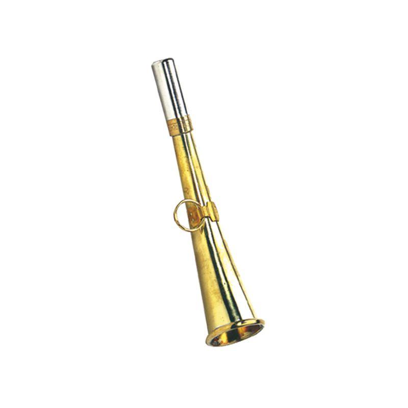 Petite corne d appel de chasse en laiton longueur 16 cm