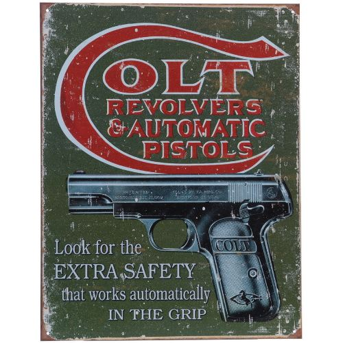Plaque me tal made in usa revolver colt pour de coration