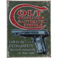 Plaque Métal Colt revolver