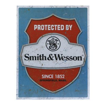 Plaque Métal protected by Smith & Wesson