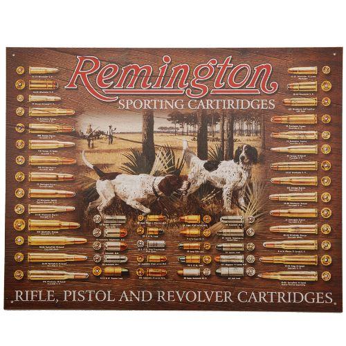 Plaque me tal remington avec chien de chasse pour de coration