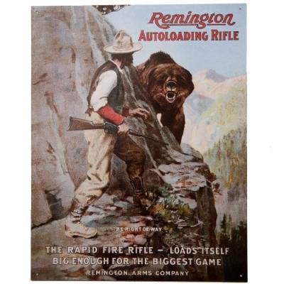 * Plaque Métal Remington