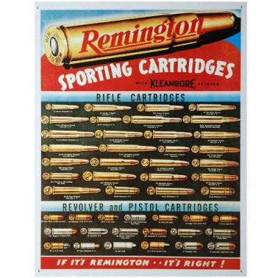 Plaque me tal remington sporting cartridges pour de coration