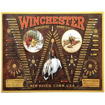 Plaque me tal winchester usa munitions pour de coration