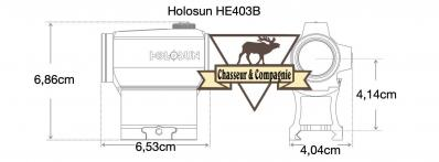 Point rouge holosun he403b dimensions