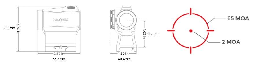 Point rouge holosun hs503r dimensions