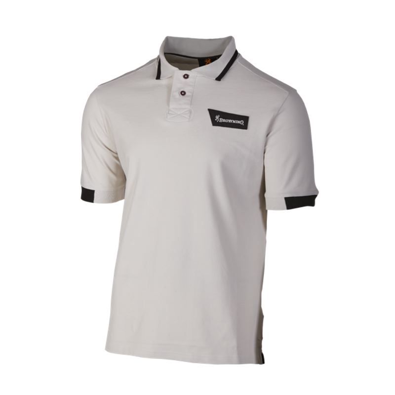 Polo browning ultra beige pour tir sportif cible et pigeon