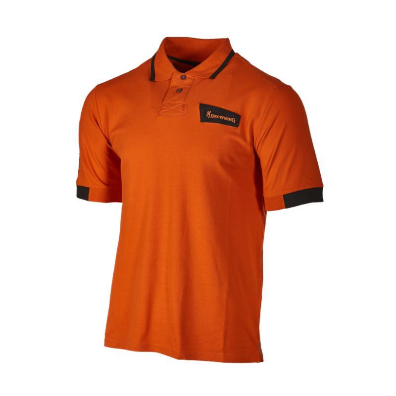 Polo browning ultra orange pour tir sportif cible et pigeon