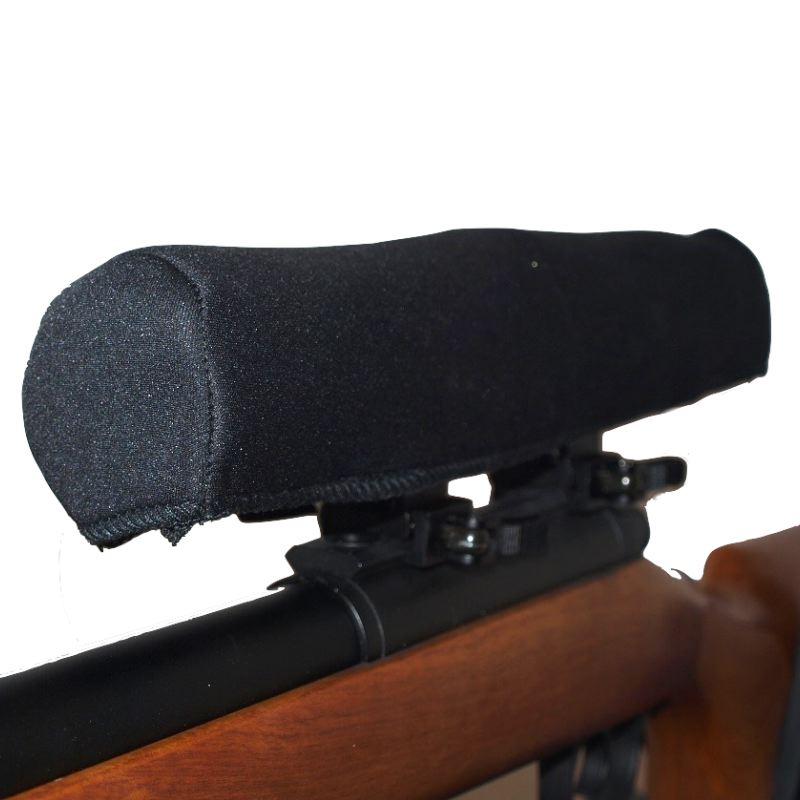 Protection couvre lunette de tir neoprene pas cher noir