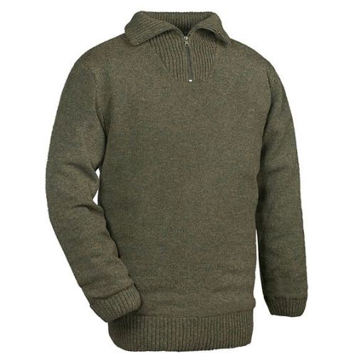 Pull 100 laine vert coupe vent club interchasse woody