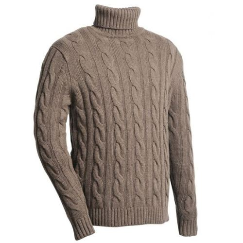 Pull col roule marron homme angora club interchasse walter