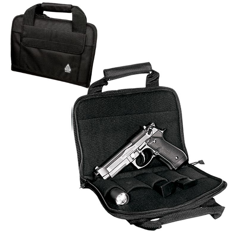 Sacoche pour arme de poing utg 28x20cm avec porte chargeurs
