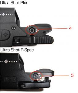 Sightmark ultra shot plus et ultra shot r spec re glage reticule