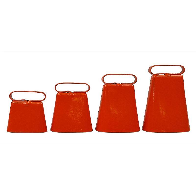 Sonnaillons en acier zingue epoxy orange fluo helen baud